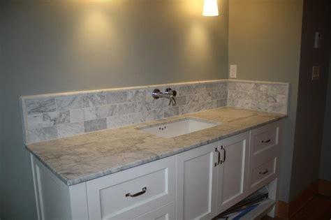 carrara marble slab vanity mount sink cut out