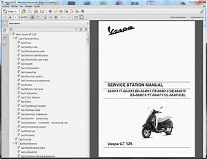 Vespa Gt 125-200 - Service Manual - Wiring Diagram
