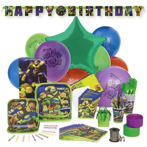 turtle decorations walmart mutant turtles deluxe kit for 8