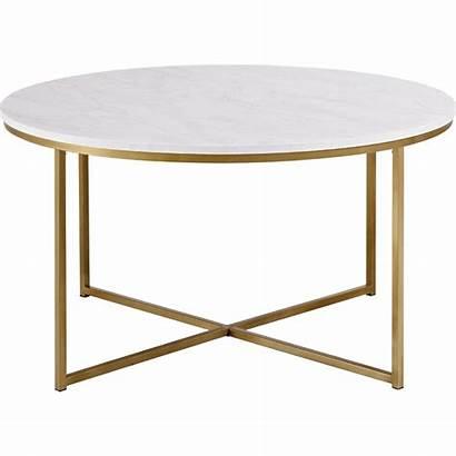 Table Coffee Gold Metal Marble Base Walker