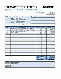 25 free service invoice templates billing in word and excel With itemized roofing invoice