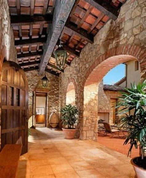 Tuscan Mediterranean House Plans Courtyard Narrow One