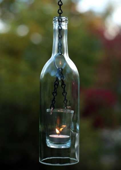 awesome ideas    wine bottle lights