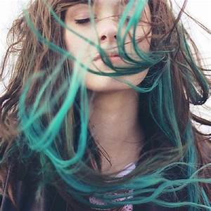 Brown Hair with Green Tips Hair Colors Ideas