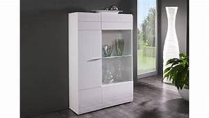 Wohnzimmer Vitrine Weiß : vitrine l carero kleine wohnzimmer vitrine wei hochglanz ~ Markanthonyermac.com Haus und Dekorationen
