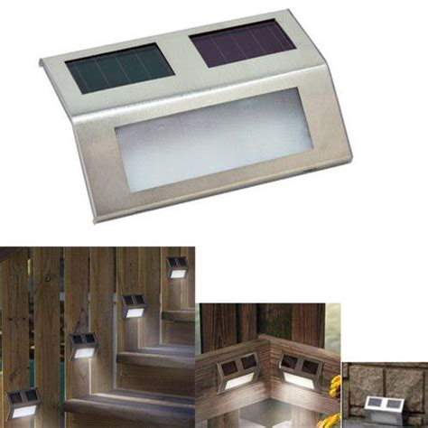 led solar wedge lights for stairways fence or patio