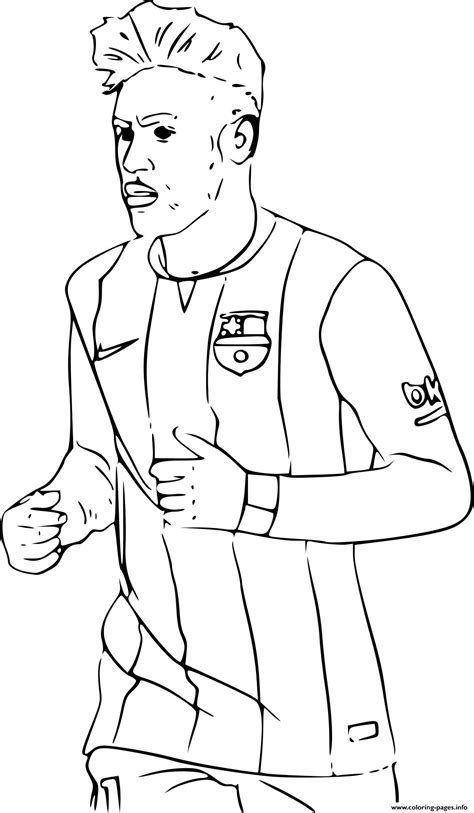 Kleurplaat Barcelona Messi by Neymar Fc Barcelone Soccer Coloring Pages Printable