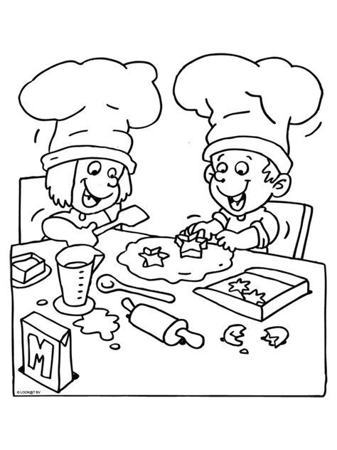 Kleurplaat Spaghetti Eten by Kleurplaat Kinderen Koken Kleurplaten Nl