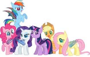 Mane 6 MLP Bat Ponies