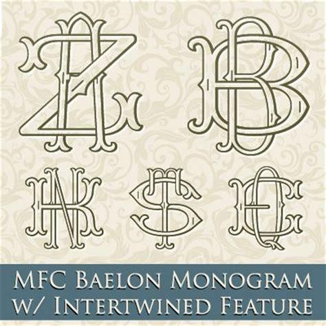 mfc baelon monogram font     letter monograms   unique  letter