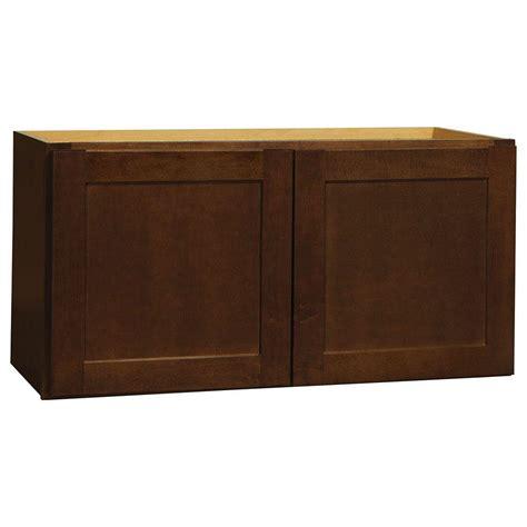home depot cognac cabinets hton bay assembled 30x15x12 in shaker wall bridge