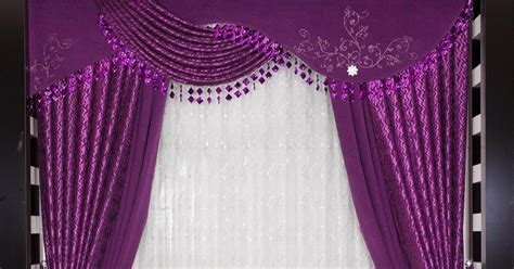 Turkish purple curtain design for modern bedroom