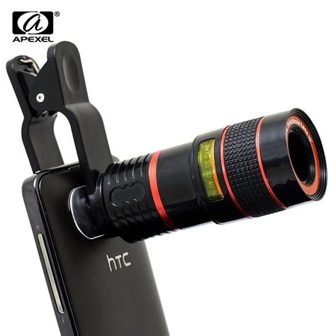 iphone 5 zoom lens for phone 8x zoom mobile phone telescope clip lens