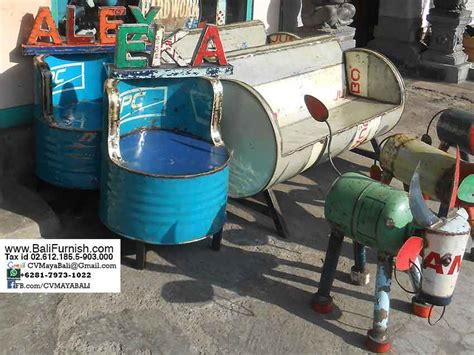 recycled barrels chairs from bali indonesia bali