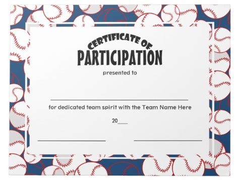 participation  sports certificate templates psd