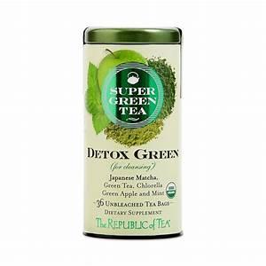 The Republic Of Tea Organic Detox Green Supergreen Tea