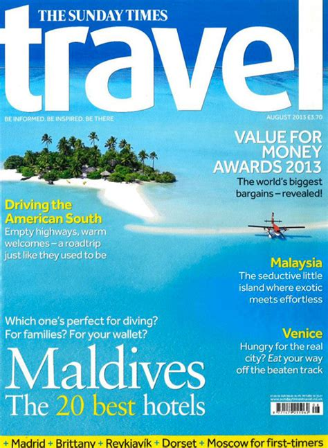 cover  sunday times travel august