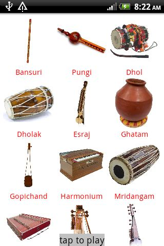 Indian Musical Instruments with Names