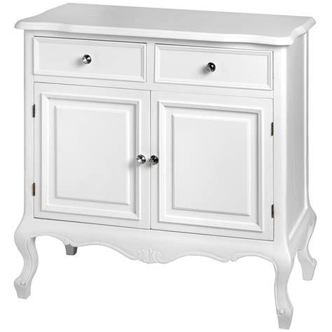 Shabby Chic Sideboard Uk by Fleur White 2 Drawer Shabby Chic Sideboard Homesdirect365