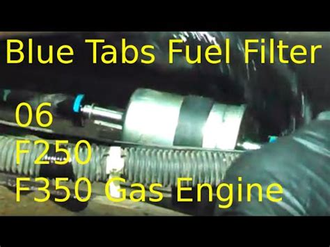 2006 Ford Fuel Filter Removal by Fuel Filter Replacement 2006 Ford F250 F350 5 4l Gas