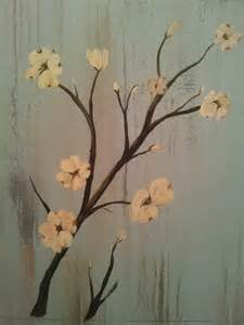 Flowers Painted On Wood
