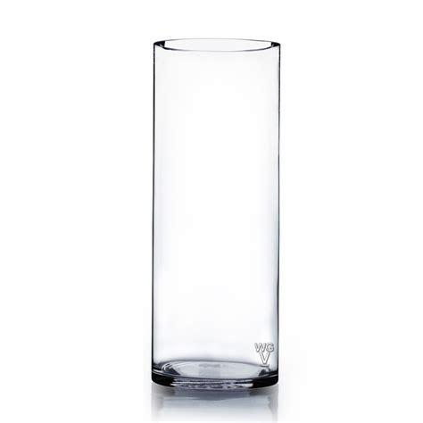 cylinder glass vases cylinder glass vase 4 quot x12 quot 12 pcs wgv intl