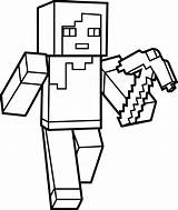 Minecraft Coloring Pages Steve Printables sketch template