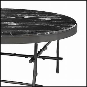 Table Basse Ronde Avec Structure En Bronze Massif Avec