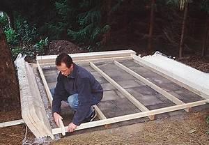 Holz Im Boden Befestigen : gartenhaus bauen und aufstellen mit der anleitung von obi ~ Lizthompson.info Haus und Dekorationen