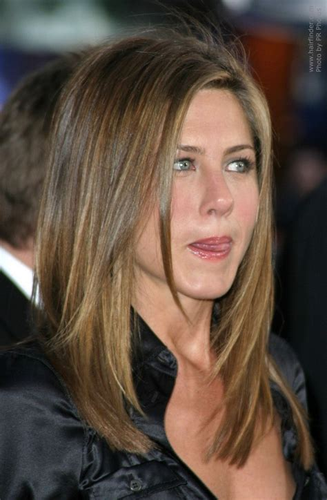 jennifer anistons hair cut  long layers  angles