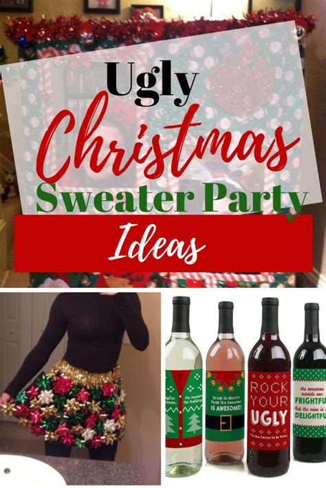 ugly christmas sweater party ideas  adults christmas