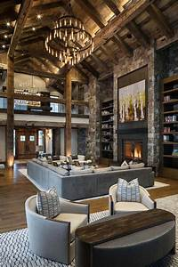Delightful Rustic Home In Wyoming With A Dramatic Mountain Backdrop  Livingroomdes U2026  With Images