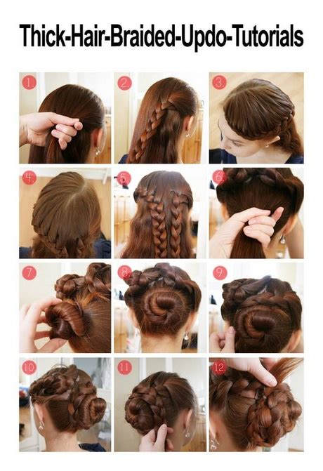 easy updos  long thick hair