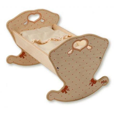 culle in legno a dondolo a dondolo rosa per bambole in legno naturale per