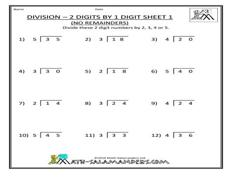 Pictures 2 Digit Divisor Worksheets Roostanama