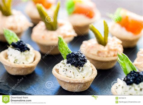 crab canapes mini puff pastry tartlets with savory filling