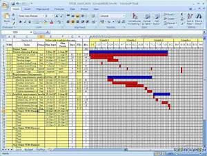 4 free excel gantt chart template ganttchart template With simple gantt chart template excel 2010