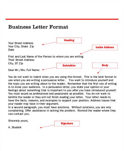 letter format   word  documents