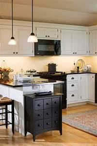 kitchen with black appliances 1496