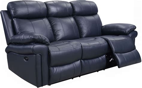 blue leather reclining sofa shae joplin blue leather power reclining sofa 1555 e2117
