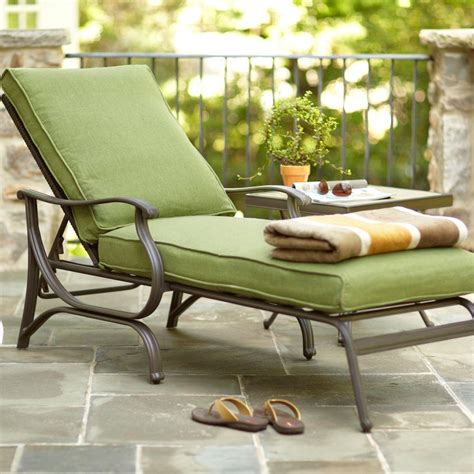 outdoor lounge chaise hton bay pembrey patio chaise lounge with moss cushion