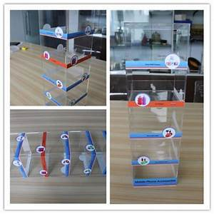 china supplier 5 shelf acrylic counter mobile phone With kitchen cabinets lowes with cell phone case stickers
