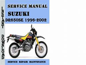 Suzuki Dr650se 1996-2002 Service Repair Manual Pdf Download