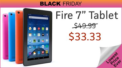 Amazon Fire 7″ Tablet Is .33 For Black Friday