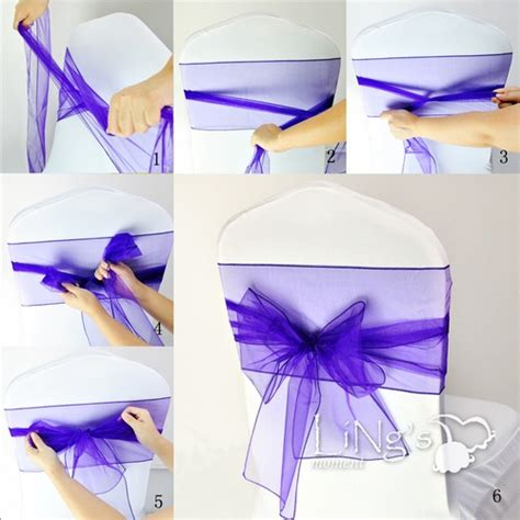 tie chair sashes wedding chair sash
