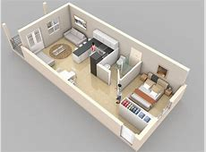 Planos de apartamentos pequeños de un dormitorio, diseños