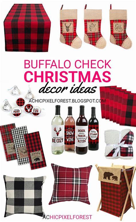 buffalo check christmas decor ideas xmas pinterest