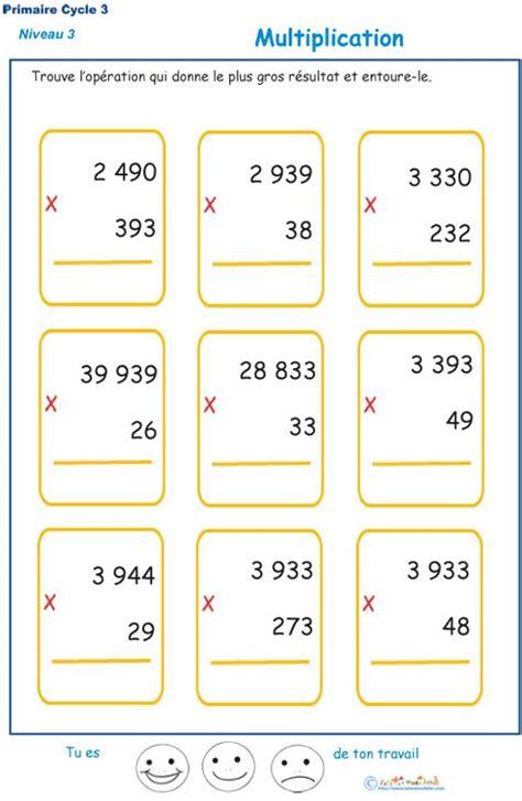 Multiplications à Imprimer Pour Les élèves De Cm1 Et Cm2