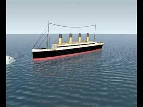 3d titanic sinking animation youtube