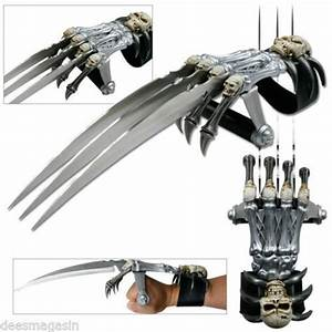 Demon Zombie Skull & Bones Tri-Bladed Skeleton Wolverine ...
